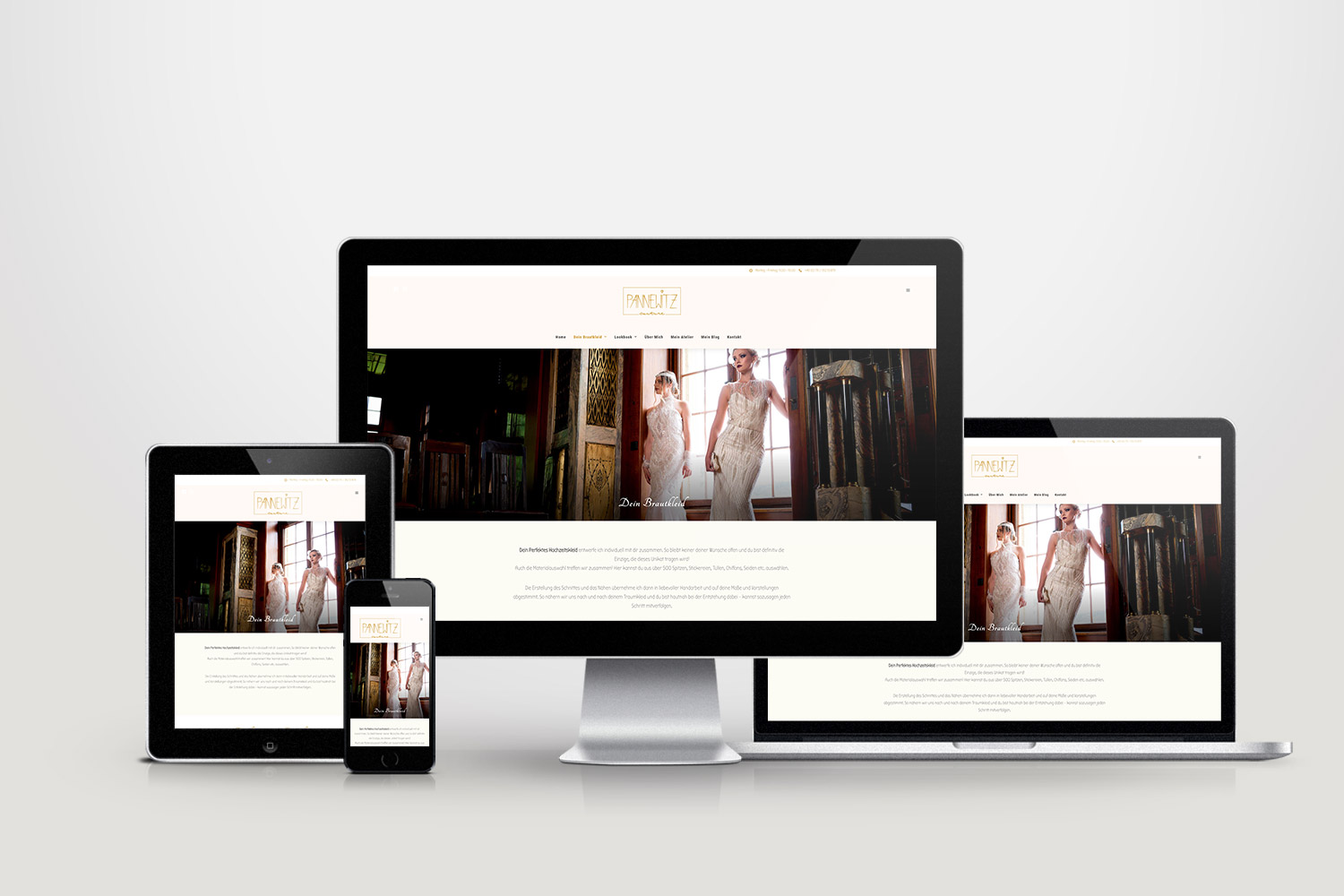 Pannewitz Couture - Responsive Webdesign