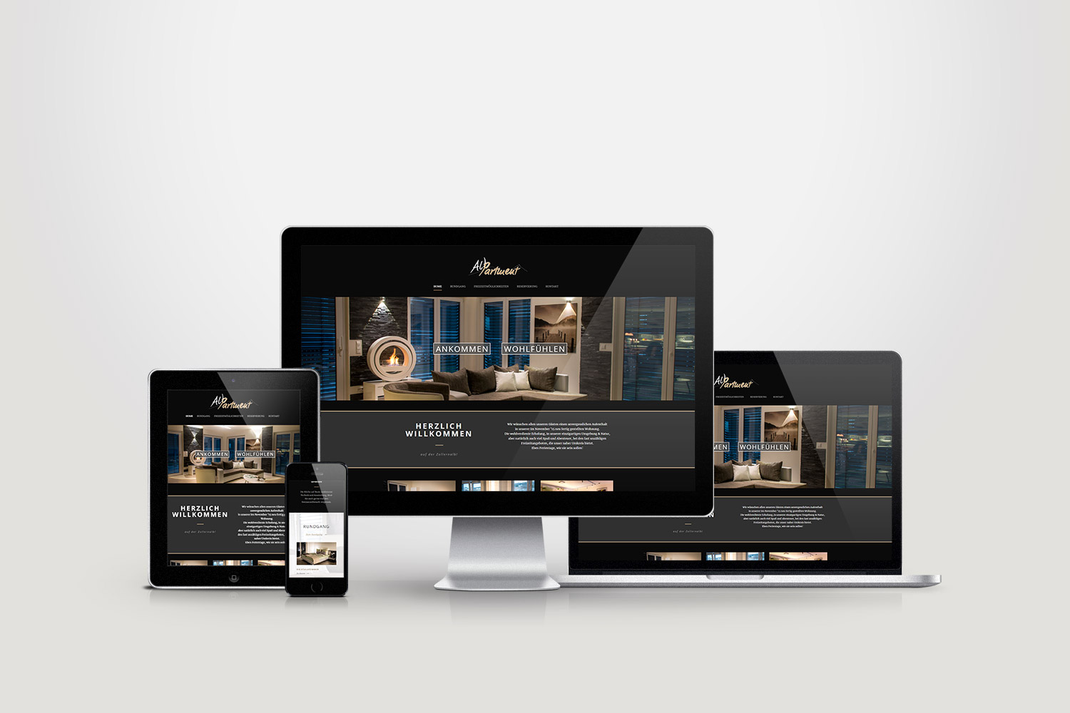 AlbPartment - Responsive Webdesign