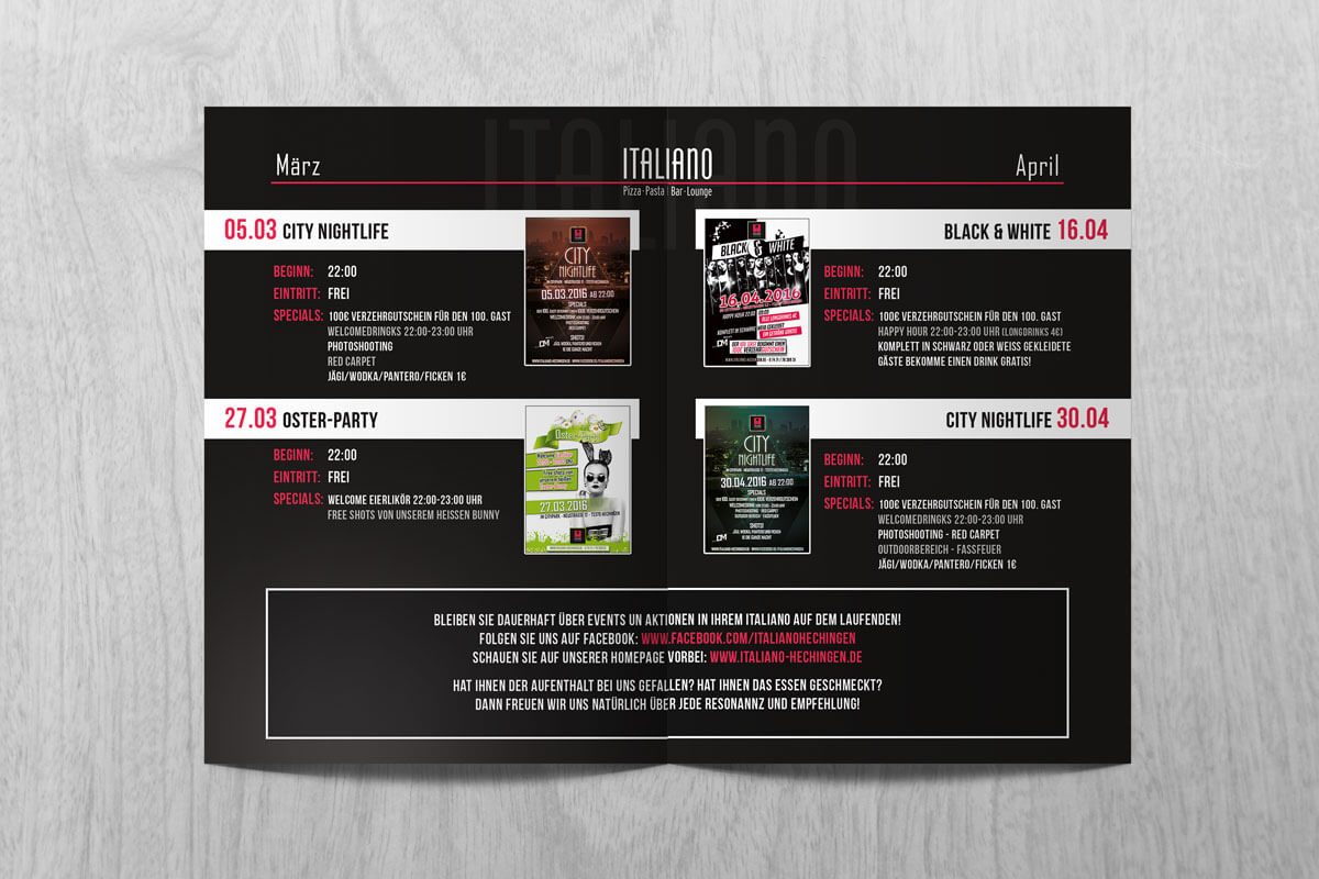 Ialiano Quartals Eventflyer In