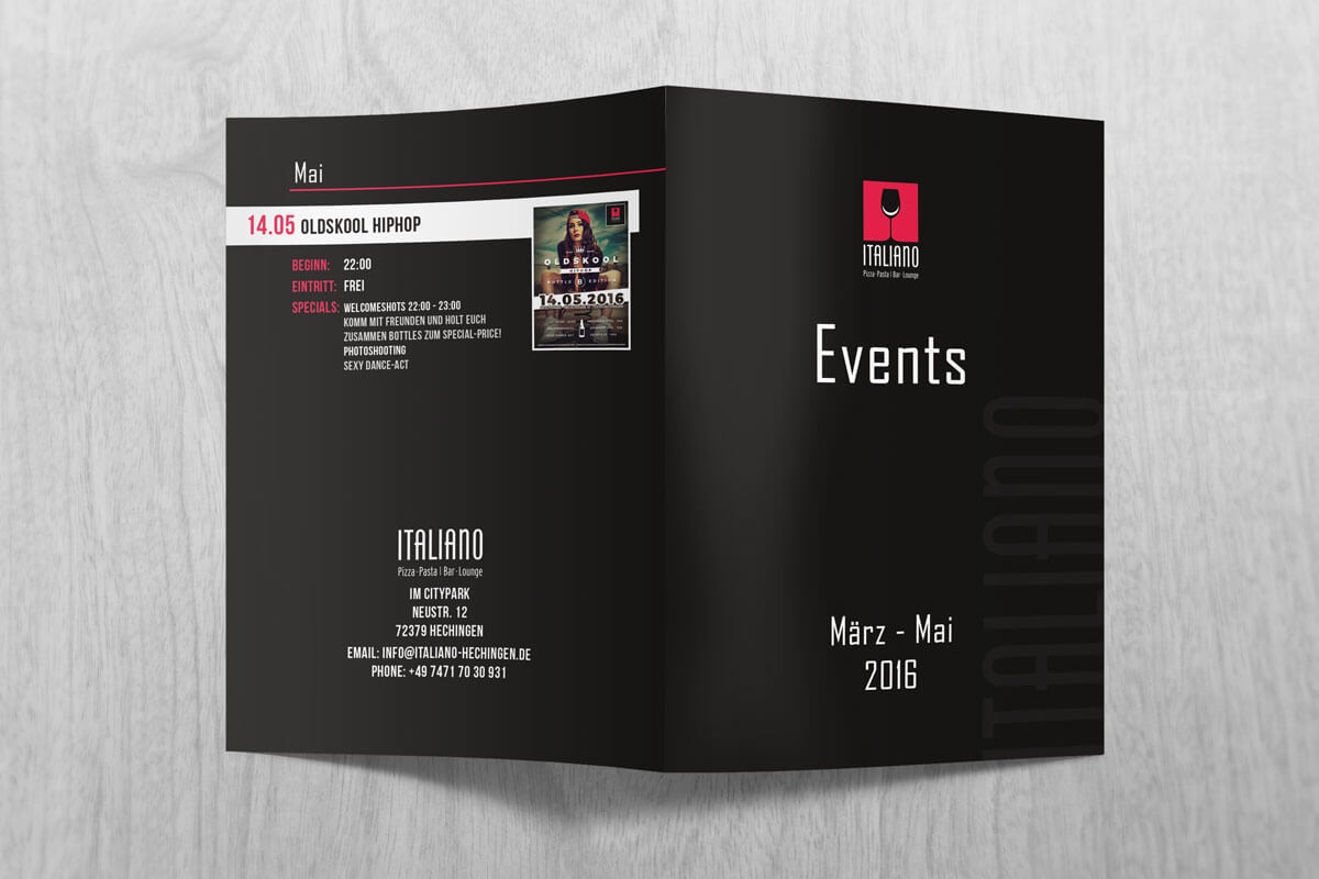 Ialiano Quartals Eventflyer Out